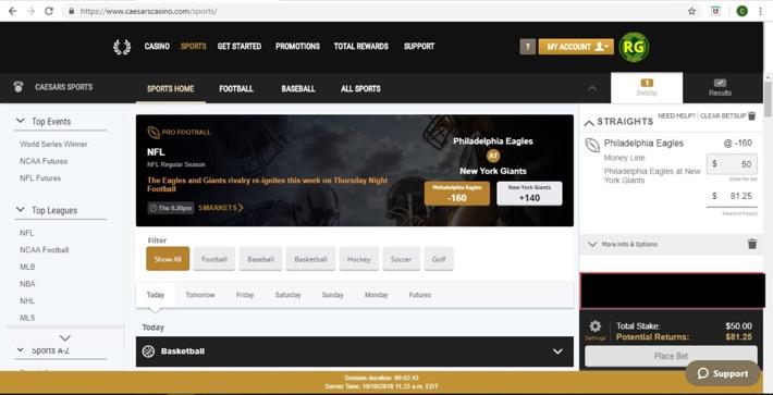 Caesars Online Sporsbook