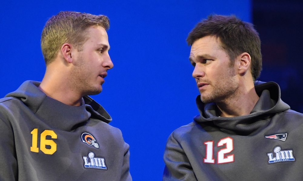 Tom Brady Jared Goff super bowl LIII
